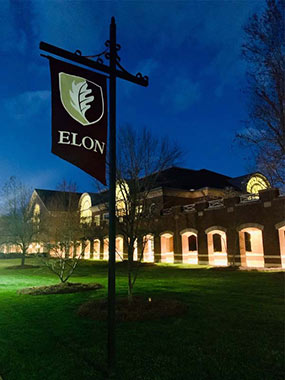Elon campus night