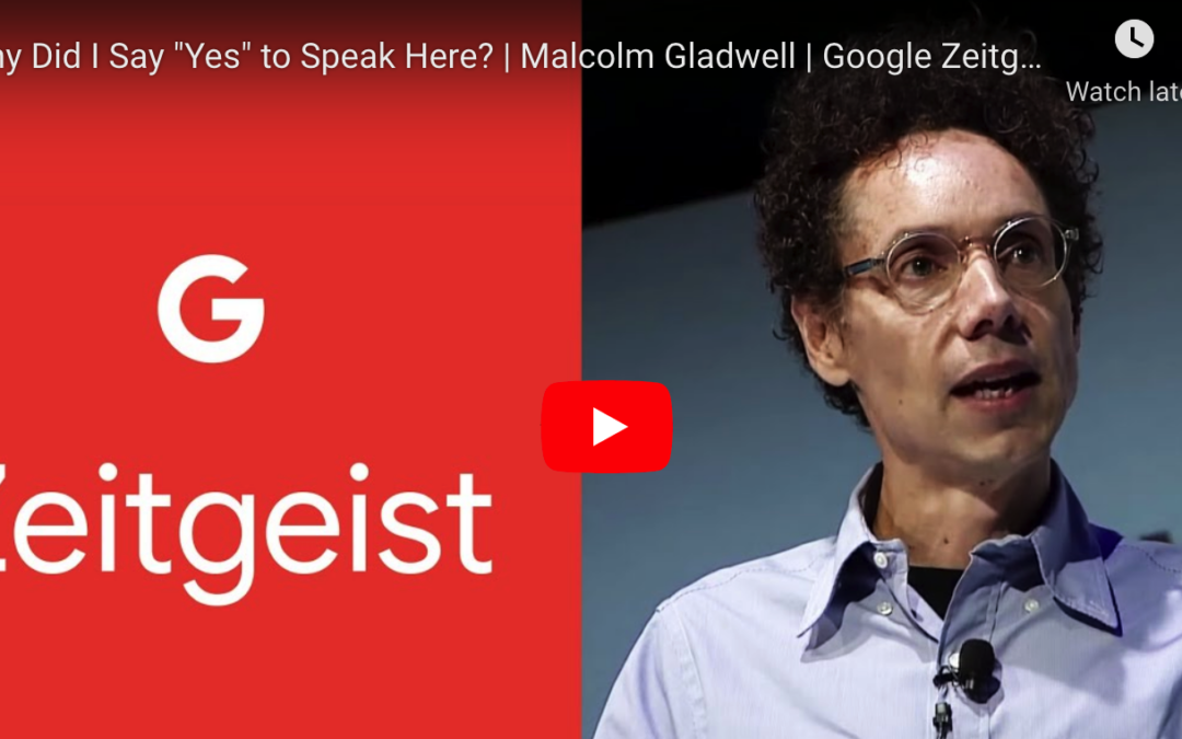 A Must-Watch for Parents! Malcom Gladwell TED Talk